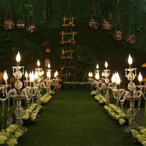 55CM alto Upscal centrotavola di cristallo acrilico Wedding Candelabri Candle Holder Wedding Aisle strada porta Props