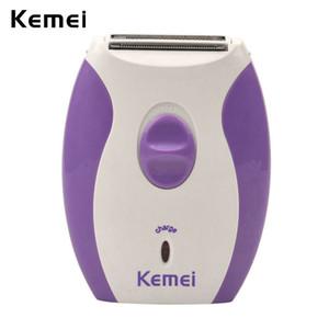 2016 comecase Kemei 280R elétrico portátil Depiladora Womens Shaver recarregável Hair Clipper Navalha Bikini Depilação Removedor de Barbear Máquina