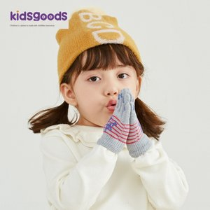 2020 new children's woolen knitted Warm glovesGloves and glovesfor 3-6 years old cute printed five-finger warm gloves for children