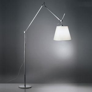 Nordic Double Rocker Fabric Floor Lamp Office Art Living Room Dining Room Vertical Simple Standing Light FA061