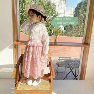 ppm Liu Yuan children's clothing 2020 Korean season Children's clothing Pearl new high-end girls' Pearl Shirt
