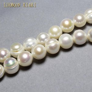 LUOMAN XIARI AA+ Irregular Natural Pearl Beads For Jewelry Making DIY Bracelet Necklace Material 11-12mm Strand 14'' T200507