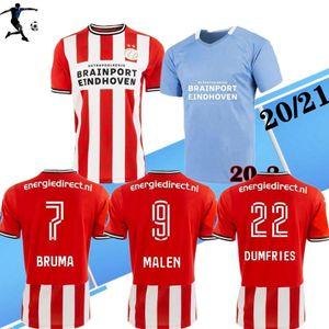 20 21 H. LOZANO para hombre de fútbol jerseys PEREIRO HENDRIX Maxi Home Red Lejos de Balck camisas del fútbol de Eindhoven DE JONG Viergever de manga corta