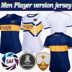 Player versión Boca Juniors 2020 del fútbol Jersey # 16 DE ROSSI 20/21 Hombres camiseta de fútbol TEVEZ PAVON ABILA personalizada camiseta de fútbol blanco ausente