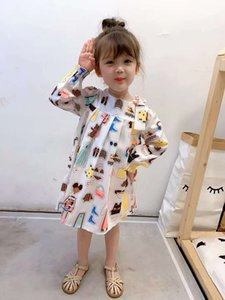 2020 superior quality Baby Girls Dress Plaid Dress Heart Print Clothing Fly Sleeve Toddler Kids Dress For Girl Clothes Vestidos