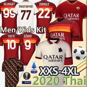 Thaïlande DZEKO TOTTI Zaniolo maillot de football roma rome DE ROSSI 20 21 Kluivert kit Maillot de foot PEROTTI KOLAROV as roma maillot de pied 4XL