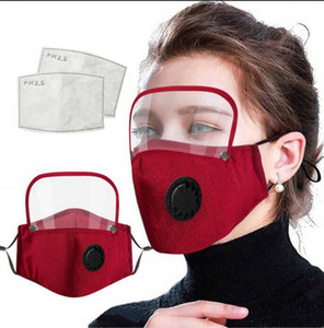 6style 2 1 Yüz Shield PET Ekran Tam Yüz İzolasyon Maskeleri Anti-sis Yağ Koruyucu Kapak Vana Filtre GGA3583-9 Maske Maske