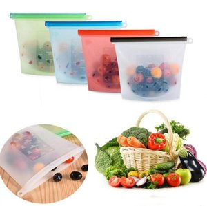 Reusable Silicone Food Bag Storage Bags Fridge Food Storage Containers Refrigerator Bag for Leakproof Freezer Preservation 4 Colors