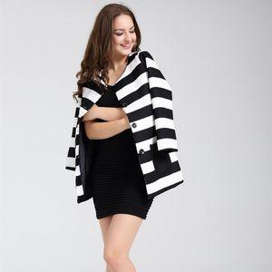 2020 Spring & Autumn Women Basic Jacket Coat Female Fashion Striped Print Outerwear & Coats Printed Denim Jean Jackets