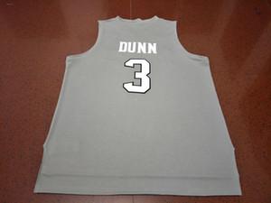 Vintage Erkek 3. Kris Dunn Yeni Malzemeler Çift FRIARS Koleji Jersey sz S-XXXL nakış yüksek kaliteli siyah beyaz gri jarse