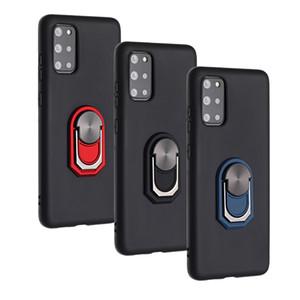 Araç Tutucu Vaka İçin Samsung S20 Ultra S10 Artı Not 20 Artı 10 Mıknatıs Emme Darbeye Yumuşak Silikon 360 Parmak Halkası Defender Standı Kapak