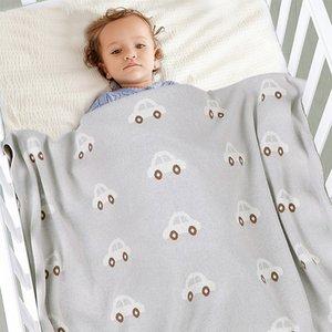 Facejoyous Одеяло трикотажное для мальчиков девочек Коляска Постельные принадлежности Обложки Аксессуары Sleepsack новорожденный Пеленальный Wrap 100 * 80