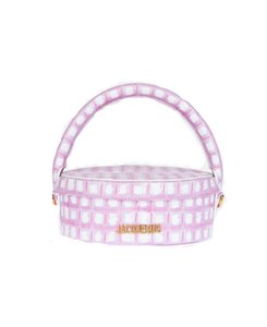 2020 new arrial niche package Pink Plaid portable round cake lunch box bag high quality bag
