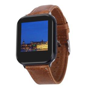 Spazio Acciaio inox satinato nero Goophone Guarda 5 4 44 millimetri Smartwatch magnetica di carico senza fili Bluetooth 4.0 MTK2503C frequenza cardiaca sonno Monitoraggio
