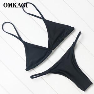OMKAGI Brand Swimsuit Swimwear Women Biquini Sexy Push Up Micro Set Swimming Bathing Suit Beachwear Brazilian Bikini 2018 MX200613
