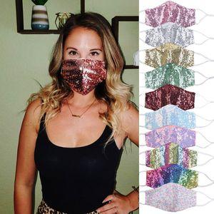 11 Entwürfe New Iridescence Sequin Gesichtsmasken Wilde Sexy dünne Personality Staubdichtes atmungsaktiv Waschbar Female Mask