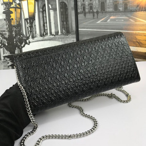 New women's one-shoulder bag 7A high-end custom quality diagonal cross bag fashion style silver metal accessories with long shoulder strap