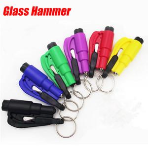 Glass Hammer Car Breaker Safety Tool Emergency 3 in1 Window Seat Belt Cutter Key Chain