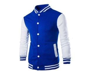 Más el tamaño para hombre de la chaqueta del diseñador del remiendo del color natural de la chaqueta informal collar del soporte de manga larga de las chaquetas de los hombres S Ropa
