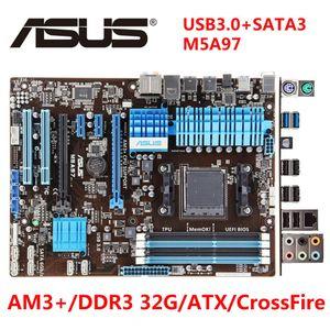 AMD Asus M5A97 Utilisé mère AM3 + ATX 970 Desktop Motherboard FX Phenom II Athlon II ATX 32G DDR3 USB3.0 SATA3