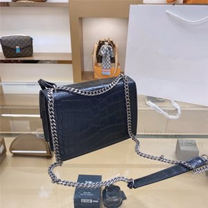 ySLSaintLaurentDesigner Handbags sheepskin caviar metal chain gold silver Genuine Leather bag Flip cover Shoulder bags