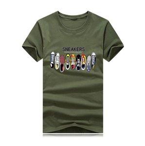 Designer T-shirt Homme T-shirts Top qualité New Mode Tide Chaussures Imprimé hommes T-shirt T-shirts Hauts hommes T-shirt multiple sélectionnable Couleur