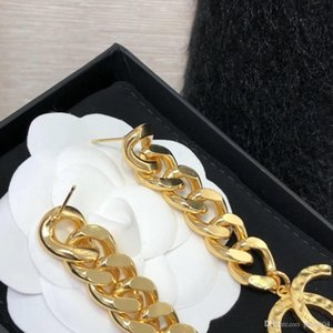 Hot sale 18k Gold drop earring with chain for women wedding jewelry gift free shipping PS4333