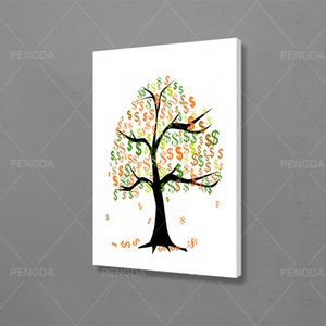 Modular Hd Prints Dollar Signs Pictures Paintings Money Tree Home Decor Nordic Canvas Poster Wall Artwork For Living Room Frame
