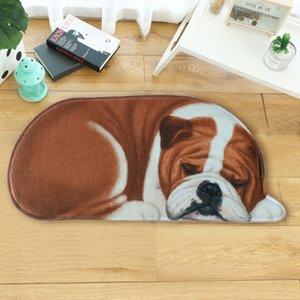LYNGY Karikatür 3D Köpek Şekli Hayvan Giriş Hoşgeldin Mats Paspas Koridor Halı tapete Banyo Kilimler 50x109cm 20 Renkler 40x87cm