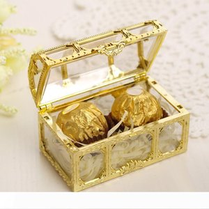 Treasure Chest Candy Box Wedding Favor Mini Gift Boxes Food Grade Plastic Transparent Jewelry Stoage Case LX7791