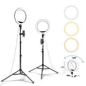Anello di riempimento luce LED Treppiede Desktop Video Fotografia diretta Fill Light Bracket