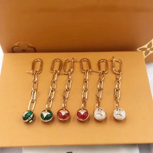 European and American fashion new color tassel earrings
