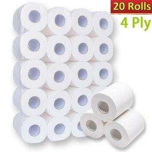 20 rotoli / LOT bianco della carta igienica Bulk Rolls bagno carta igienica morbida 4ply domestica uso quotidiano di pulizia 80g / Rotolo
