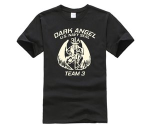 Hot Deals New Men T-Shirt Loose Clothes New Us Navy Seal Us Army Special Force Dark Angel Team 3 T Shirt Design