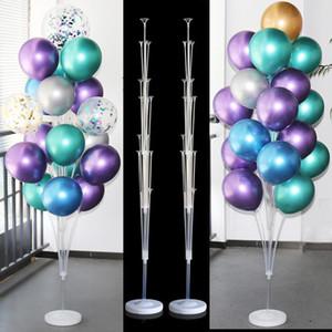 웨딩 장식 baloon입니다 스틱 풍선 스탠드 홀더 열 baloons에 생일 파티 장식 키즈 베이비 샤워 파티 용품