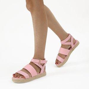 New Mulheres Platform sandálias Moda Thick inferior mulher Denim Plano Sandals Praia Sapatos femininos Strap Salto Alto sapatas do partido