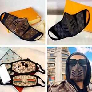 Popular Projeto Meia cara cobrir a boca Máscara Designer Tendência capa de couro senhoras bolsa bolsa de lona Máscaras Womens Mens Backpack