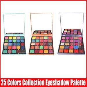 Augen Make-up Weihnachtsgeschenk Glitter Schimmer Lidschatten 25 Farbe Matt Metallic-Flash-Palette Lidschatten Lila Orange Blau 3 Styles