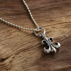 New 925 sterling silver handmade designer jewelry antique silver American anchor necklace pendant without chain punk vintage Gothic style