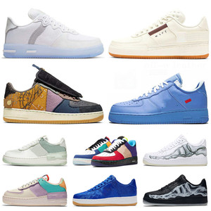 DES Chaussures de skate force 1 forces Type n354  Cactus Jack airforce one white off MCA af1 MOMA Skeleton Shadow hommes femmes chaussures baskets formateurs