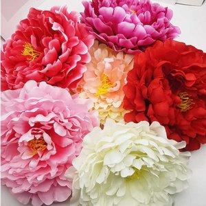 1шт 17см Peony головки цветка Silk Искусственные цветы Брак День Рождения Свадебные цветы Домашнее украшение Декоративные Flores
