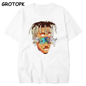 WRLD JUICE RIP 999 Rest In céu camisetas de manga curta Homens de Hip Hop Camiseta Rapper Xxxtentacion Mens Vestuário Camisetas Hombre