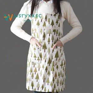 Küche Standard-Anti Fouling Oilproofed Baumwolle Schürze Niedliche Cartoon Erwachsener Ärmel Bid Großhandel Küchenreinigung Kochen Werkzeuge 3zTd #