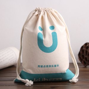 Printable cotton canvas drawstring small cloth toy environmental protection gift bag Canvas gift bag