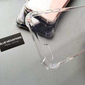 DHL 200pcs Transparent Phone Case pour iPhone 11 Pro MAX XS XR X 8 Plus 6s 7plus 5 s anti-chute TPU de protection anti-choc couvercle transparent
