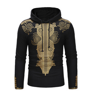 African Dashiki Print Men Hoodie 2020 Autumn New Slim Fit Long Sleeve Men African Clothes Hip Hop Streetwear Hooded Sweatshirt