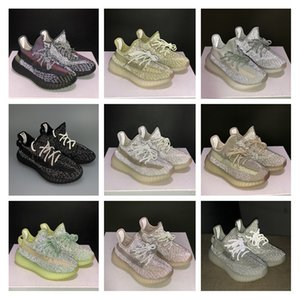 Asriel Oreo tail light Earth Kanye Earth Desert Sage Cinder Reflective Black Static Yeshaya Reflective Running Shoes Synth Antlia Men Women