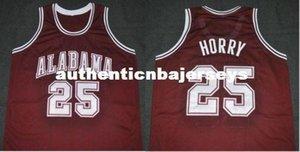 Cheap personalizzato # 25 Robert Horry Alabama Crimson Tide College Basketball Jersey cucito cucito su misura qualsiasi numero e nome