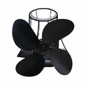 YL105 de energía térmica chimenea Heat Fan de madera Powered Estufa Ventilador para la madera / Log Burner / chimenea Eco Friendly aficionados Cuatro hojas 2w8T #
