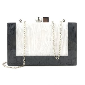 2019 marble acrylic party handbag Marble dress evening dress wedding shoulder banquet evening bag